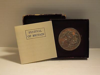 Vintage Festival Of Britain 1951 Boxed Coin - Ok Overall Condition - B162 0117