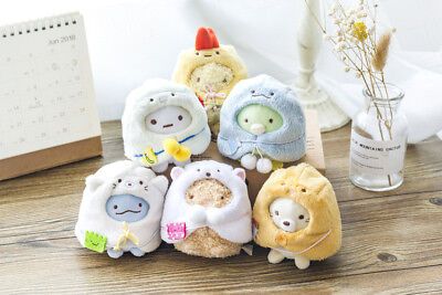 Japan Sumikko Gurashi New year Tenori Plush Doll Mascot Full set 6 pcs San-X