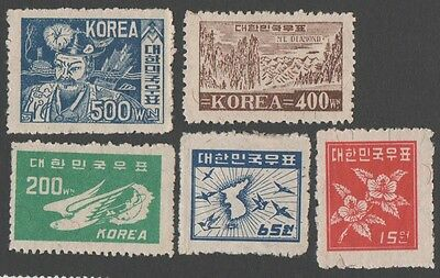 South Korea. 1949 Postage Stamps. MH