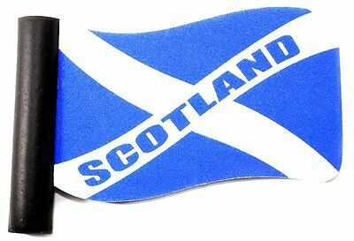 Scottish Gifts - Saltire St Andrew's Wavy Flag Aerial Topper