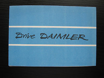 Daimler small brochure. 1950's. Conquest Drophead, One-O-Four Saloon. Excellent.