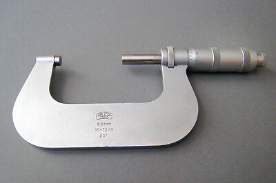 Vintage Carl Zeiss Jena Micrometer, 50-75mm, Made in Germany