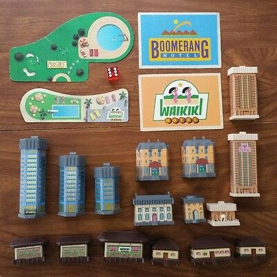 Replacement Parts - vintage Hotels board game 1987 Milton Bradley