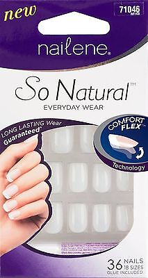 Nailene So Natural Perfect Fit Undecorated Short Nails