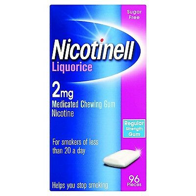 Nicotinell Chewing Gum 2mg Liquorice - 96 Pieces 2 mg
