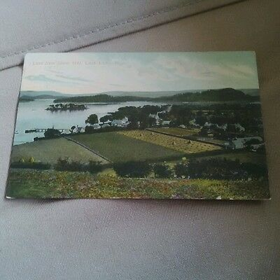 Luss from Stone Hill, Loch Lommond postcard