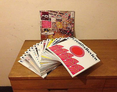 Lot of CREATIVE REVIEW magazines from March 2010 to August 2011 inc. Monographs
