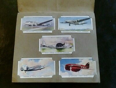 """COMPLETE SET IN ALBUM. """"SPEED"""" . Will's Cigarette Cards."""