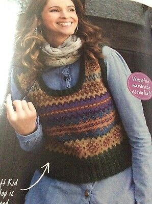 """Mum and Daughter delightful Fair Isle Knitting patterns 32-50"""" & ages 5-12"""