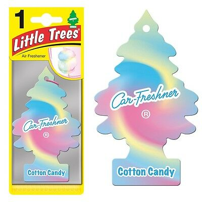 2 X Magic Tree Little Trees Car Home Air Freshener Freshner Scent - COTTON CANDY