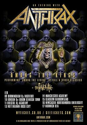 ANTHRAX An Evening With: Among The Kings 2017 UK Tour PHOTO Print POSTER Shirt 8
