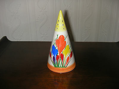 Clarice Cliff Crocus Design Sugar Shaker By Moorland Pottery In Mint Condition