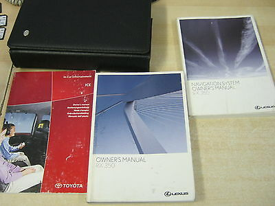 Lexus Rx350 Owners Manual Handbook Pack With Wallet Inc Sat Nav
