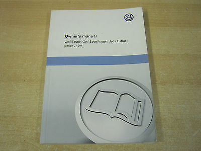 Vw Golf Estate  And Jetta  Owners Manual Handbook  2009-2014