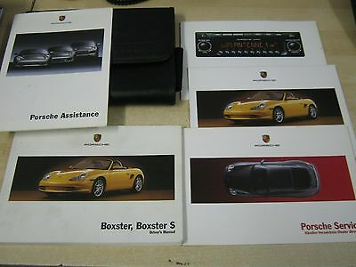 Porsche Boxster-Boxster S ,owners Manuals Handbook Pack 2003-2005 2.7  Plus  3.2