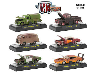 Auto Projects 6 Piece Cars Set Release 40 In Cases 1/64 By M2 Machines 32500-40