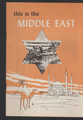 This is the Middle East Booklet 1956