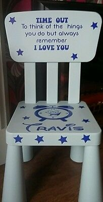 time out chair vinyl stickers personalised plus hearts or stars