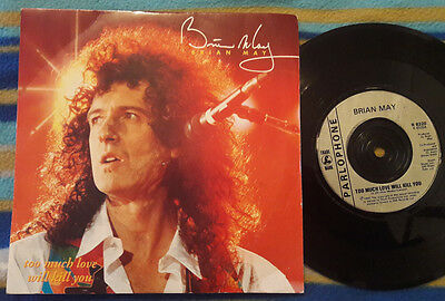 "BRIAN MAY Too Much Love Will Kill You UK Parlophone 7"" record vinyl  QUEEN"