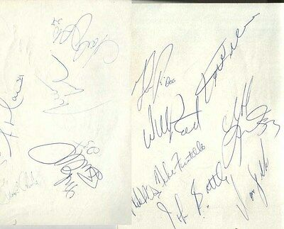 1980's Atlanta Hawks Autographed Page by 13 w/ Dominique Wilkins & Willis Reed