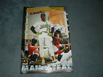 """Rickey Henderson Oakland A's Athletics """"man Of Steal"""" 20X30 Poster Print"""