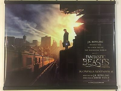 FANTASTIC BEASTS AND WHERE TO FIND THEM Original UK Cinema Quad Poster.