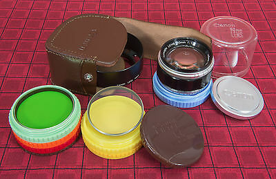 """*RARE* Canon 50mm f1.2 """"SET"""" for Canon Rangefinder w/Hood, Filters, More EX++"""
