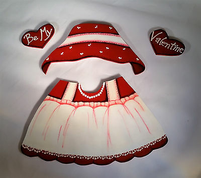 Hand Painted Seasonal  Valentine Outfit ONLY, GINGER SOLD SEPARATELY