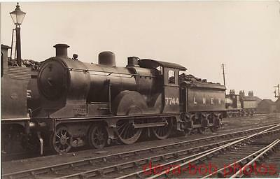 Railway Photo LNER D13 7744 Ipswich Shed 1934 Great Eastern T19 4-4-0 Loco GER