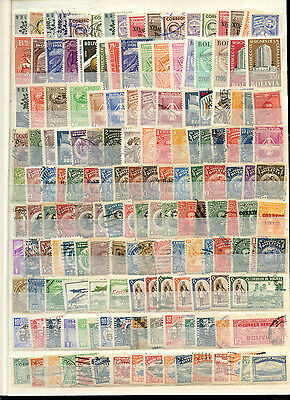 Bolivia Stockpage Full Of Stamps #B4231
