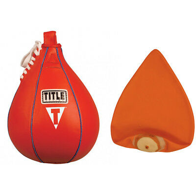 Title Boxing Leather Speed Bag and Bladder - Small
