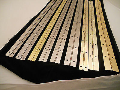 600mm CONTINUOUS/PIANO HINGES BRASS OR NICKEL PLATED.