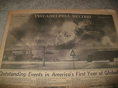 1942 Philadelphia Record-1st Year of Global War-Full Page Pep Boys Ad-Maps