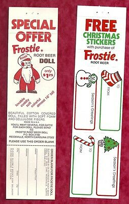 1960's Frostie Root Beer Free offer ...Xmas stickers and Ad for Froetie DOLL (2)