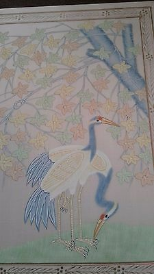large vintage painting on silk Chinese?