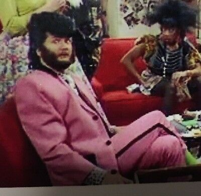 Kenny Everett's Original Pink Teddy Boy Suit As Seen On TV. Collectors Item.