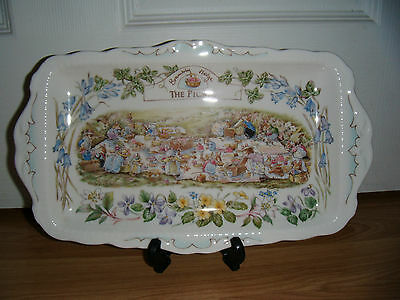 RARE Royal Doulton Brambly Hedge The Picnic Oblong Tray ~ 1st Quality Excellent