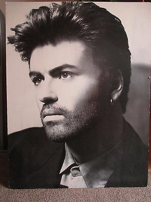 "GEORGE MICHAEL Beautiful ""Listen Without Prejudice"" Promo Display Board Poster"