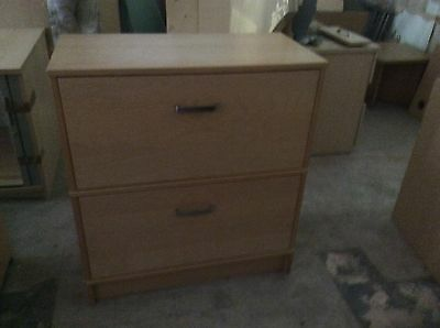 Beech Two Drawer Foolscap Filing Cabinet