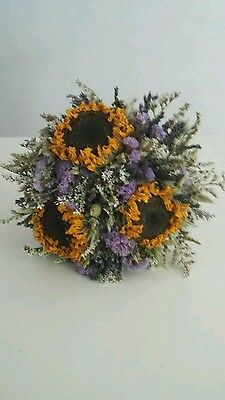 Dried Flower Wedding Bouquet by Florence and Flowers Sunflowers Boho