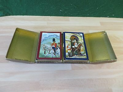 """Vintage WADDINGTONS """" GUARDS"""" Playing Cards  double pack REGISTERED No 872529"""