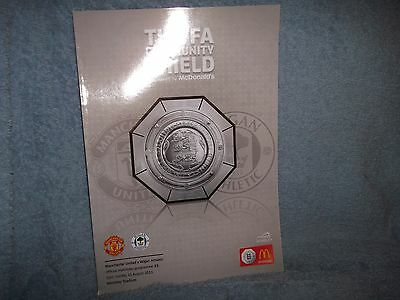 2013 Charity Shield Manchester United V Wigan Football Programme