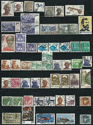 India  - 54 stamps mixed - Years 1929  to 1998 including B.O.B.