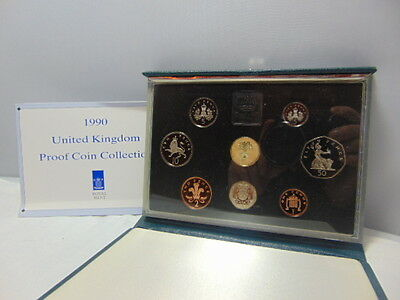 UK British 1990 Proof 8 Coin Collection set