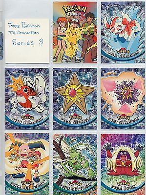 Complete Pokemon Series 3 Set - 72 New TV Animation cards by Topps! Must see!