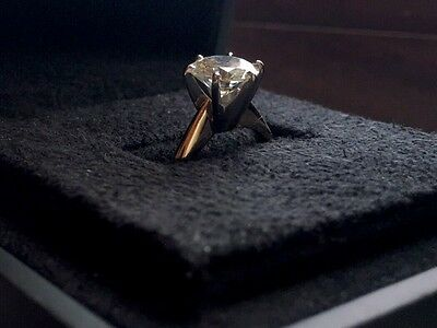 18k Yellow Gold - 2ct Moissanite Solitaire