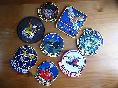 USAF 8 Patch LOT FS Refueling Training Missile Rescue Strike Airlift Velcro KC