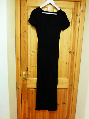 M & S Marks and Spencer Black Maxi Dress UK Size 10
