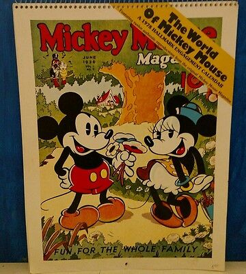 The World of Mickey Mouse 1978 Hallmark Engagement Calendar