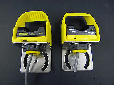 Banner Engineering  STBVR81, Self Check Touch Button w/ Safety Guards (2)